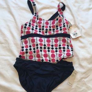 Nike Girls 2 Piece Swim Set Size 14